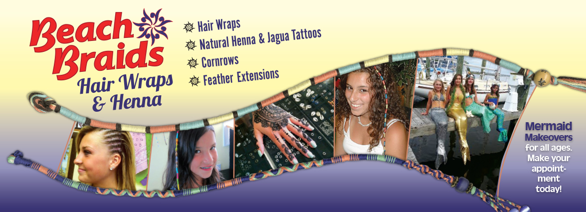 Beach Braids, Hair Wraps & Henna