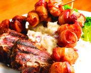 Bacon Wrapped Sea Scallops And Lamb - The Oceanfront Grille
