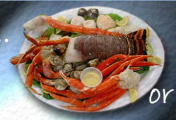 Fat Crabs Rib Company Corolla NC Restaurant, Coral Threefer