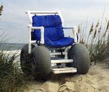 Beach wheelchair for rent at Just For the Beach Rentals