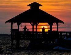 Sunset from the gazebo at Inn at Corolla Light