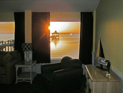 Waterfront sunset at Inn at Corolla Light