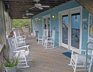 Outdoor seating at Inn at Corolla Light