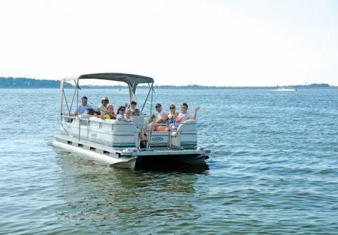 Corolla Water Sports, Pontoon Boat Rentals
